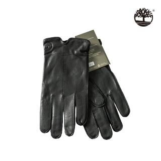 【Timberland】中性黑色皮革手套(A1EU3001)