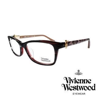 【Vivienne Westwood】時尚周蕾絲土星款光學眼鏡(紅琥珀/粉 VW316_02)
