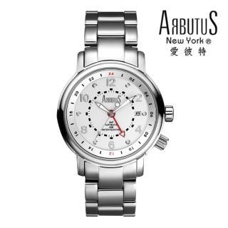 【ARBUTUS 愛彼特】航空軍事雙時制剛毅風格腕錶機械錶 AR0076