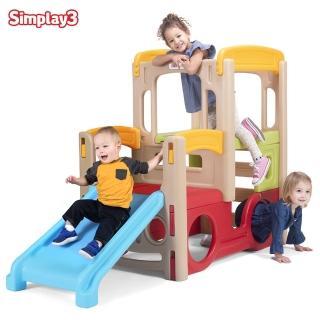 【美國Simplay3】雙層卡車遊樂場(小孩的最愛 結合滑梯及攀爬)