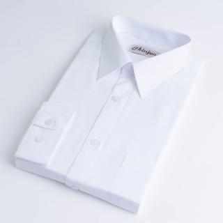 【CHINJUN】防皺襯衫長袖、白底條紋、編號:8026(男性