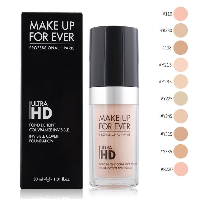【MAKE UP FOR EVER】ULTRA HD超進化無瑕粉底液(30ml-多款可選)