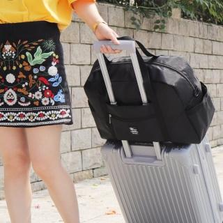 【WEEKEIGHT】可登機防潑水耐磨耐用旅行袋(小/行李箱拉桿適用)