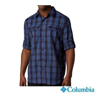 【Columbia 哥倫比亞】男款-Omni-Shade防曬50快排襯衫-藍色格紋(UAE06490VC /  排汗.襯衫.長袖)