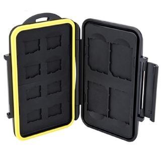 【JJC】防水防撞12張Micro SD記憶卡儲存盒記憶卡收納盒MC-SDMSD12(記憶卡保護盒 記憶卡盒)