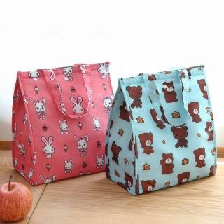 【J 精選】韓風可愛動物防潑水可摺疊手提保溫便當袋/野餐袋/保冷袋