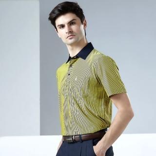 【JOHN DUKE 約翰公爵】時尚都會涼感機能POLO衫_黃色(915V1602)