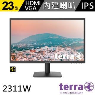【兩入組】terra 沃特曼 2311W 23型零閃屏抗藍光廣視角螢幕(五年保固/內建喇叭)