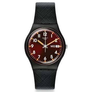 【SWATCH】原創系列手錶 SIR RED 酷帥紅勁(34mm)