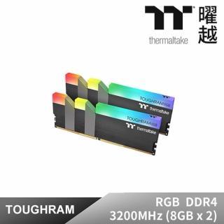 【Thermaltake 曜越】TOUGHRAM Z-ONE RGB 記憶體 DDR4 3200MHz 16GB 8GB x 2(R019D408GX2-3200C16A)