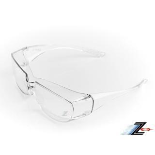 【Z-POLS】防霧升級款Z06可包覆眼鏡於內設計 全透明PC防爆鏡片抗UV400防風防飛沫防疫眼鏡(有無近視皆可用)