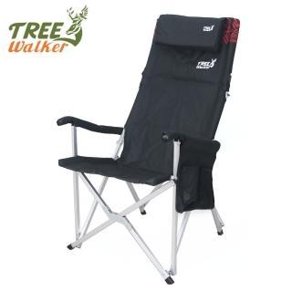 【TreeWalker】高背枕頭折疊式大川椅-兩色可選(露營椅)