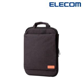 【ELECOM】帆布多功能薄型手提收納袋13.3吋-黑(BM-IBOF13BK)