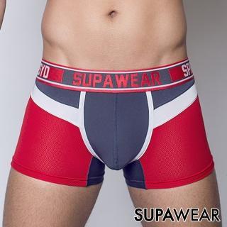 【SUPAWEAR】火星探勘者超彈性透氣型男四角內褲(紅色)