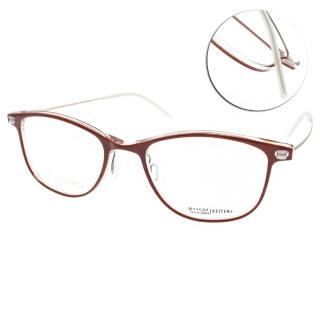 【VYCOZ】知性簡約方框款眼鏡(紅-霧金#KEITERS RED)