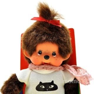 【日本Sekiguchi夢奇奇】俏皮貓咪圍巾洋裝