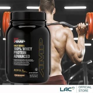 【GNC 健安喜】AMP 極速飲品2.05磅-巧克力口味(乳清蛋白/消化酵素/BCAA)