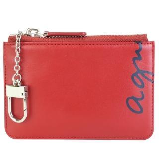 【agnes b.】鑰匙零錢包(紅)