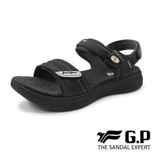 【G.P】女款輕量緩震磁扣涼鞋G0755W-黑色(SIZE:36-39 共二色)