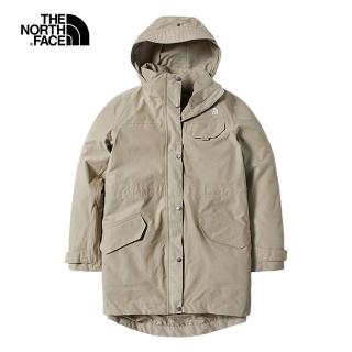 【The North Face】The North Face北面女款杏色防水透氣衝鋒衣 497CZBV