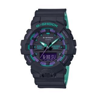 【CASIO 卡西歐】G-SHOCK 樹脂錶帶 防水200米 超亮LED照明(GA-800BL-1A)
