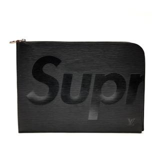 【Louis Vuitton 路易威登】限量 EPI Supreme Jour L型拉鍊手拿包(M67754-黑)