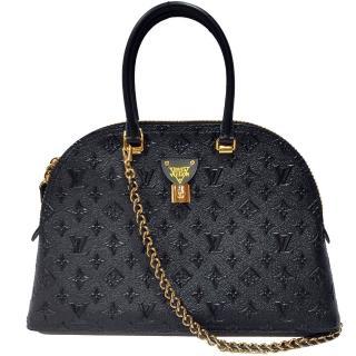【Louis Vuitton 路易威登】M44962 MOON ALMA牛皮壓紋單肩/手提包(黑色)