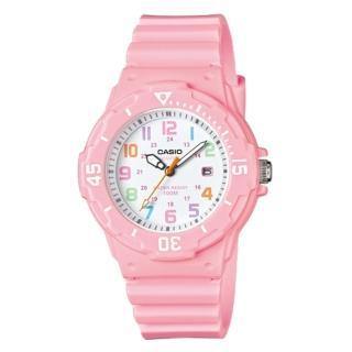 【CASIO 卡西歐】CASIO 指針錶 橡膠錶帶 防水100米 可旋轉式錶圈(LRW-200H-4B2)