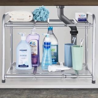 【CAXXA】耐重型水槽下置物架/雙層收納架(收納/收納架/收納箱/收納盒/收納櫃/水槽下/水槽下置物架)