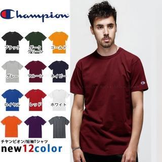 【Champion】男女款 冠軍CHAMPION美線小標素T 電繡素T
