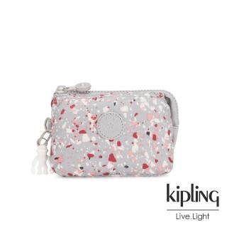 【KIPLING】繽紛水磨石圖樣三夾層配件包-CREATIVITY S