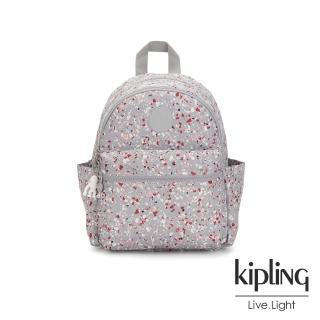 【KIPLING】繽紛水磨石圖樣後背包-SORDA