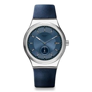 【SWATCH】51號星球機械錶 PETITE SECONDE BLUE 小秒針-藍色(42mm)