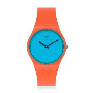 【SWATCH】原創系列手錶 URBAN BLUE 都會亮藍(34mm)