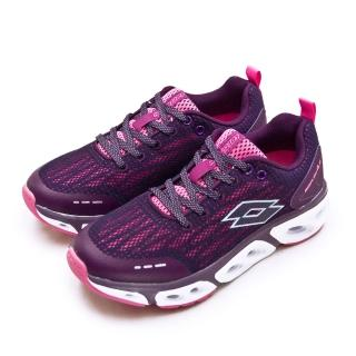 【LOTTO】女 專業風動慢跑鞋 AIR FLOW 4.0系列(紫桃紅 1917)