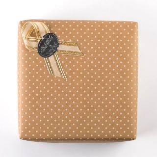 禮物包裝(棕色白點款)