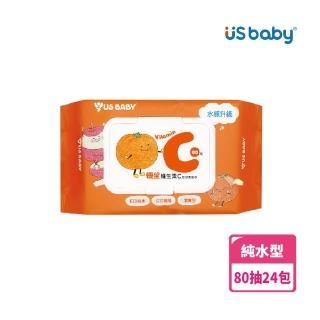 【US BABY 優生】維生素C嬰兒柔濕巾80抽(24包)