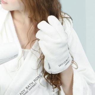 【SAFEBET】創意設計超柔軟超強吸水力快速乾髮手套(附防水收納夾鏈袋)