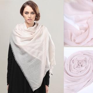 【ZANA】00%cashmere縷空編織圍巾(2款任選)