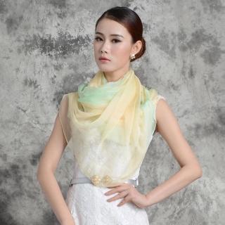 【ZANA】100%純蠶絲彩虹漸層絲巾(3款任選)