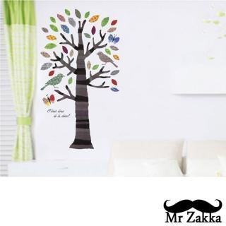 【Mr.Zakka】時尚居家創意風格DIY可移式壁貼(魔法樹)