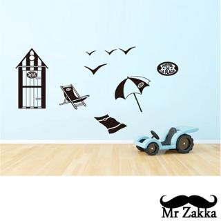【Mr.Zakka】時尚居家創意風格DIY可移式壁貼(渡假海灘)