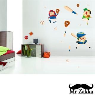 【Mr.Zakka】時尚居家創意風格DIY可移式壁貼(棒球小子)