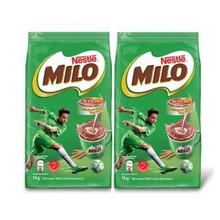 【MILO 美祿】巧克力飲品補充包2袋 (1kg/袋)