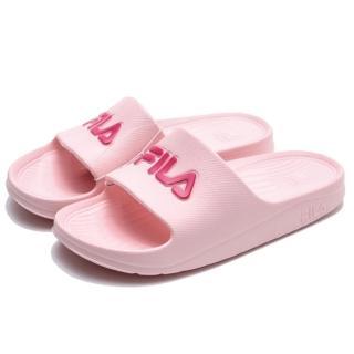 【FILA】粉紅 桃紅Logo 防水 拖鞋(4S355R555)