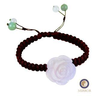 【MIRROR 皇宣緣】紫羅蘭水亮玫瑰翡翠手鍊