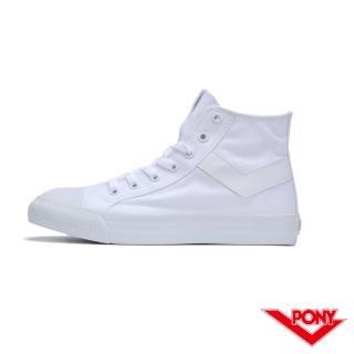 【PONY】Shooter系列  陳零九著用款 帆布鞋 高筒 休閒鞋  情侶鞋 小白鞋 女鞋 男鞋 白色