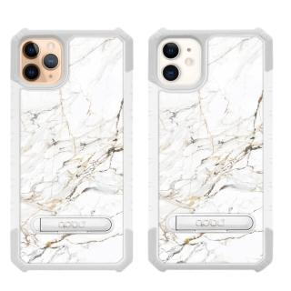 【apbs】iPhone 11 & 11 Pro & 11 Pro Max 軍規防摔立架手機殼(大理石雪藏白)