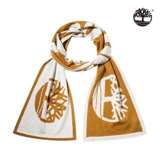 【Timberland】中性小麥黃樹型標誌羅紋雙面圍巾(A1ET9231)