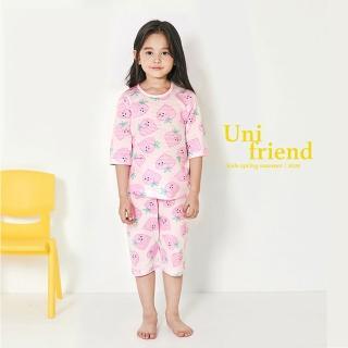 【韓國 unifriend】無螢光劑、100%有機純棉、超優質小童居家服/睡衣_小桃子(UF014)
